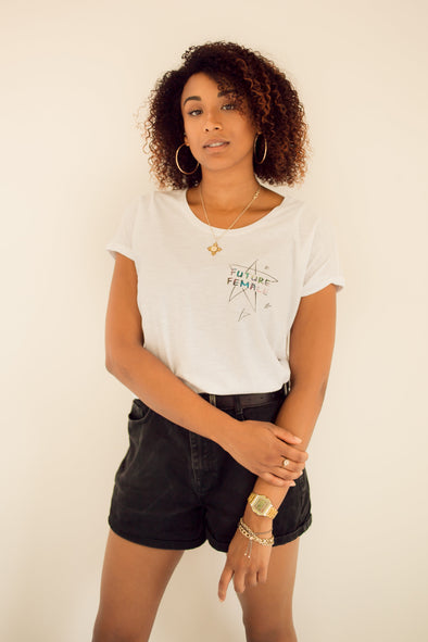 Future Female Star Print Tee-Shirt White