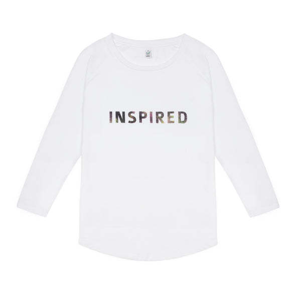 Inspired L/S Tee-shirt 20% Charity Donation supporting Womens Aid