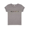 Inspired Tee-shirt Grey Marl - 20% Charity Donation supporting Womens Aid