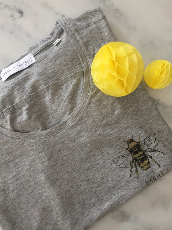 'Bee the Change' Slogan Tee-Shirt