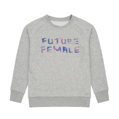 Future Female grey marl kids sweat-shirt
