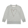 Girls Heart start grey marl sweat-shirt