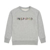 Girls Inspired grey marl sweat-shirt