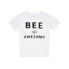 Bee Awesome unisex tee-shirt 10% charity donation is made to the Bumblebee Conservation Trust