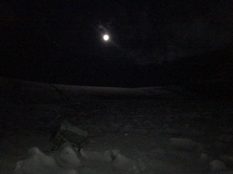 Night walk through snow, Stok Kangri