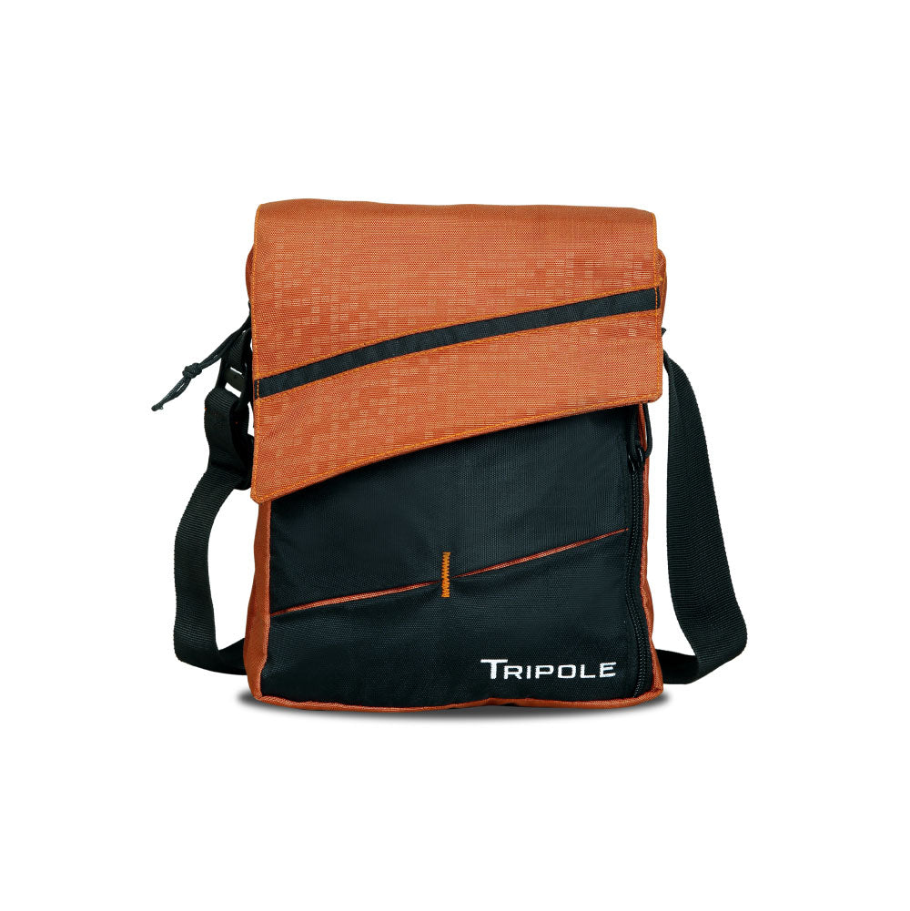 Tripole Messenger and Sling Bag with Tab Pocket (Orange)