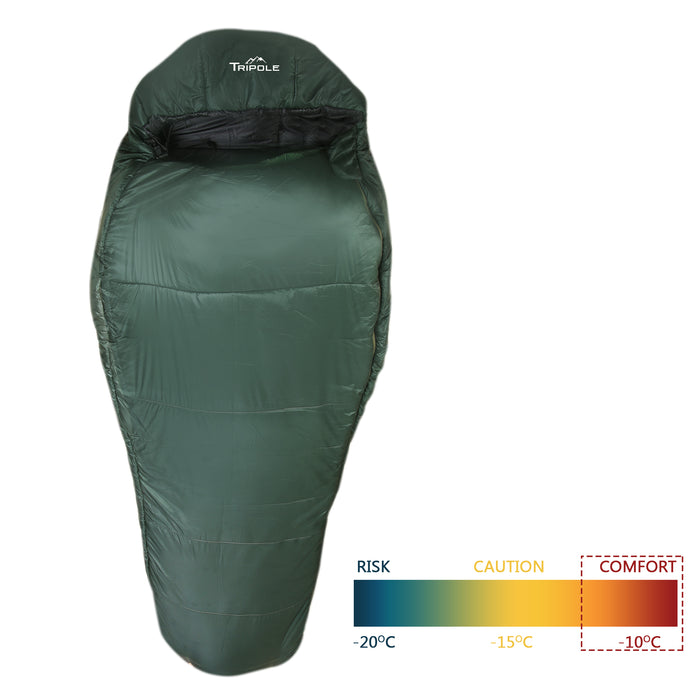 Shivalik Series -10°C Comfort Sleeping Bag (Army Green)