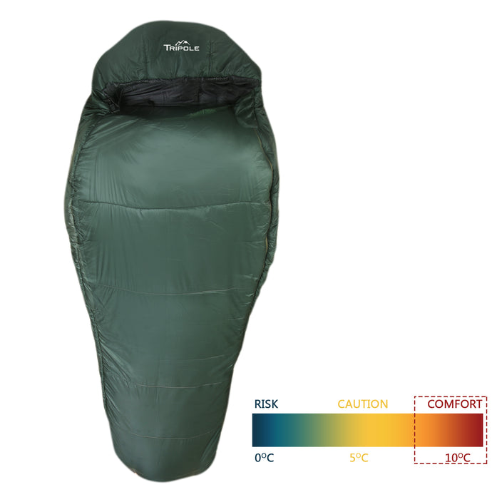 Shivalik Series 10°C Comfort Sleeping Bag (Army Green)