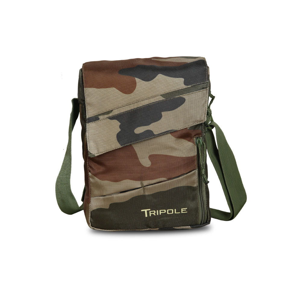 Tripole Messenger and Sling Bag with Tab Pocket (Indian Army)