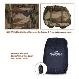 Tripole Fox 35 Litre Internal Frame Laptop Backpack | Indian Army