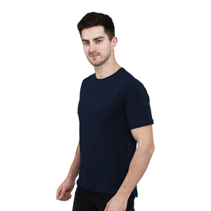 Cotton Stretchable T-Shirt High Altitude Club | Navy Blue