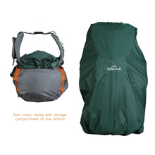 Walker 65 Litre Rucksack (Grey & Orange) + Foldable Day Pack