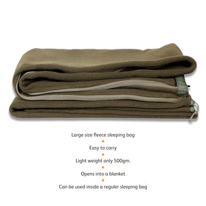 Tripole Fleece Sleeping Bag Cum Blanket