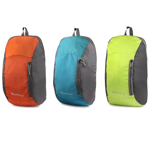 Sprint 10 Litre Backpack Combo | Pack of 3 | Orange Sea Green Parrot Green