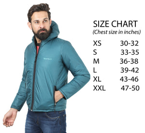 Tripole Men's Winter Jacket 5°C Comfort - Trekking and Daily Use | Sea Green