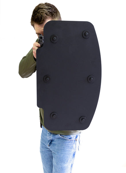 Bravo Shield NIJ III++ Titanium Ballistic Rifle Shield vs 5.56 mm