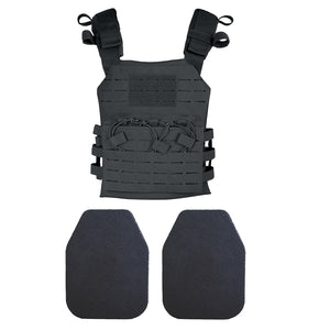 Delta Speed Rig lightest rifle-rated steel plate body armor and carrier system