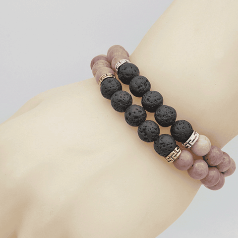 Image of Natural Stone Aromatherapy Bracelet - Humanity's Pride
