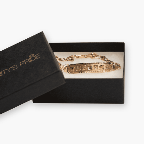 Image of Personalized Bracelet in Arabic, English or Egyptian with 18K Rose Gold Plating - Humanity's Pride