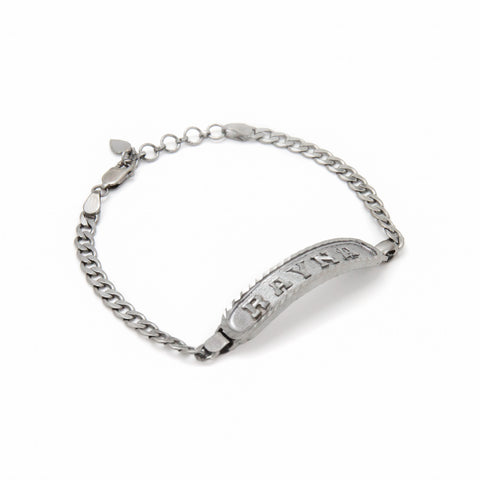 Image of Personalized Bracelet in Arabic, English or Egyptian in Black Silver