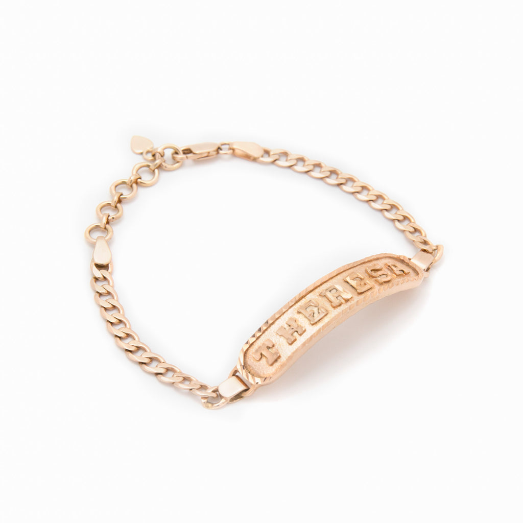 Personalized Bracelet in Arabic, English or Egyptian with 18K Rose Gold Plating
