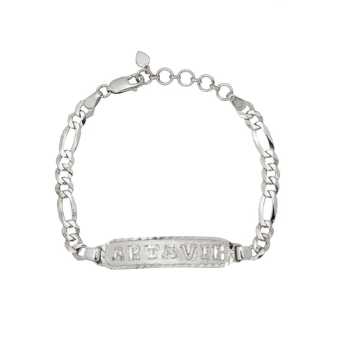 Image of Personalized Bracelet in Arabic, English or Egyptian with 18K White Gold Plating