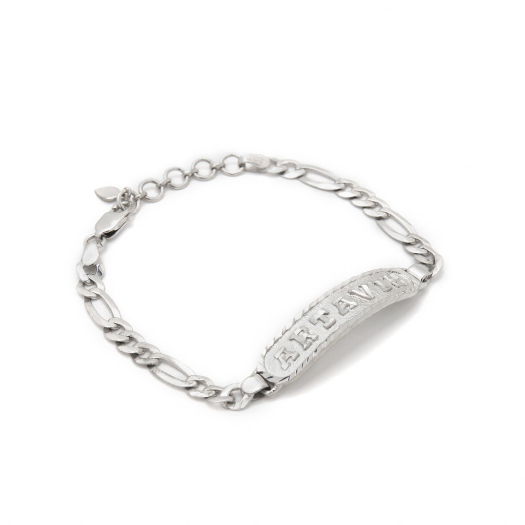 Personalized Bracelet in Arabic, English or Egyptian with 18K White Gold Plating