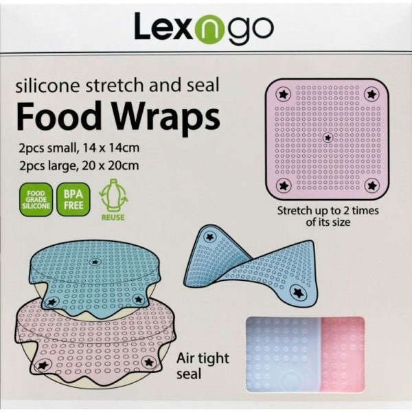 Silicone Food Wraps (Pack of 4 pcs)