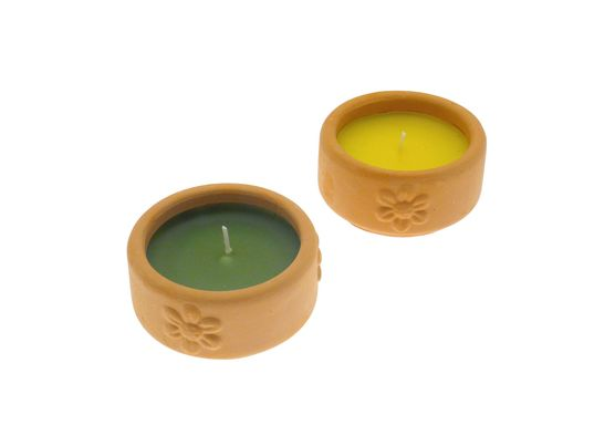 Terracotta Pot Citronella Candles