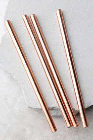 Rose Gold Stainless Steel Drinking Straw