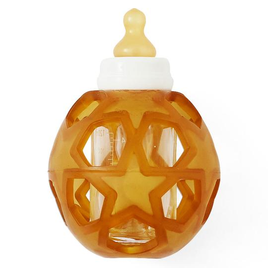 2 in 1 Baby Glass Bottle with Star Ball