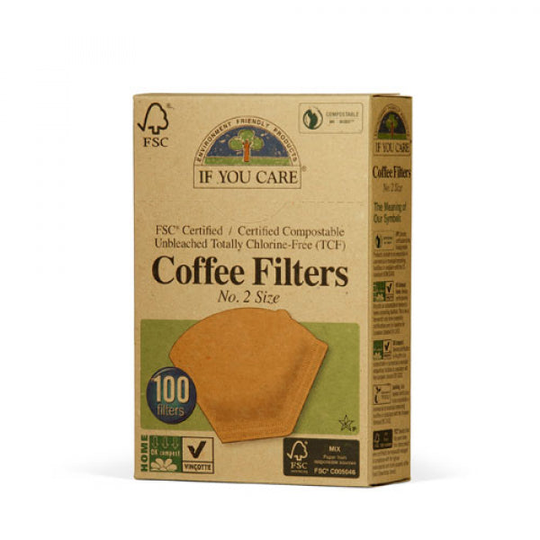 If You Care - Unbleached Coffee Filter (Cone-Style)