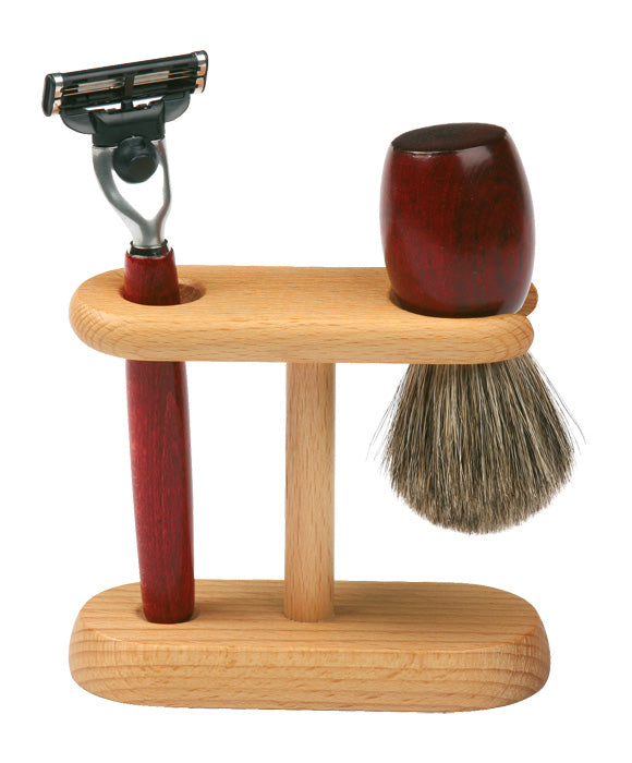 Wooden Shaving Kit Stand