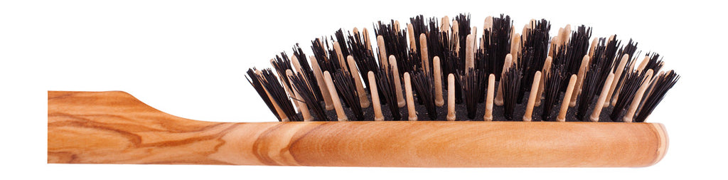 Black Bristle and Maple Pin Hairbrush
