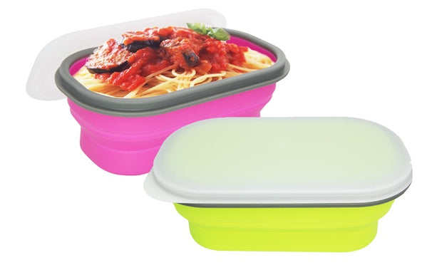 Silicone Collapsible FlexiBox - Small / 矽膠蓋可摺疊食物盒 - 小