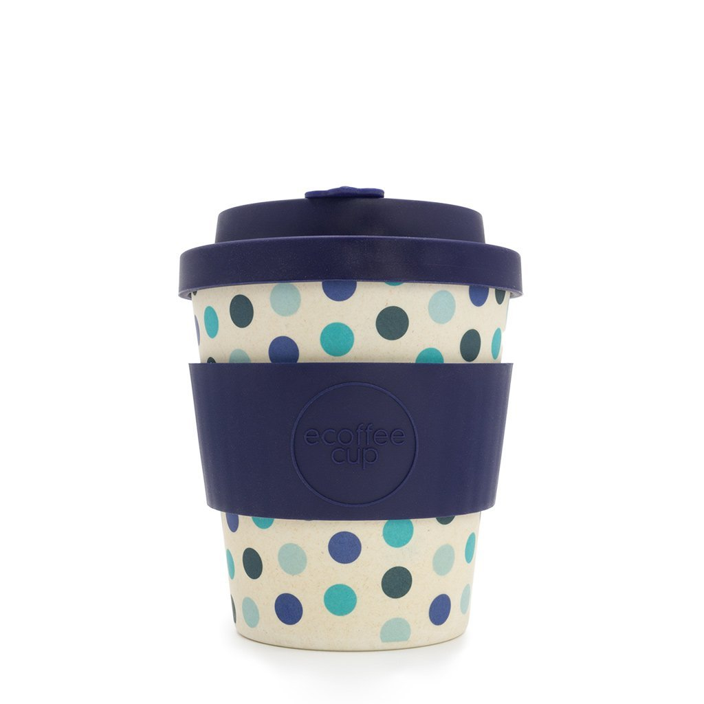 Blue Polka Ecoffee Cup - 8oz