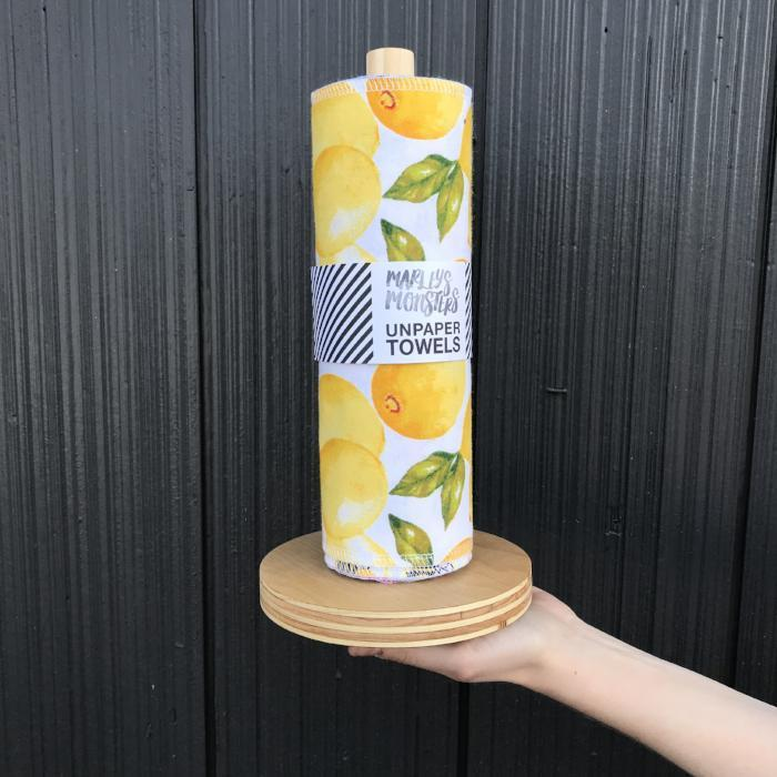 Pre-Rolled Unpaper Towels with Wood Stand (24 Sheets)