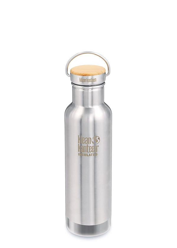 Klean Kanteen Insulated Stainless Unibody Bamboo Cap Water Bottle - 20oz