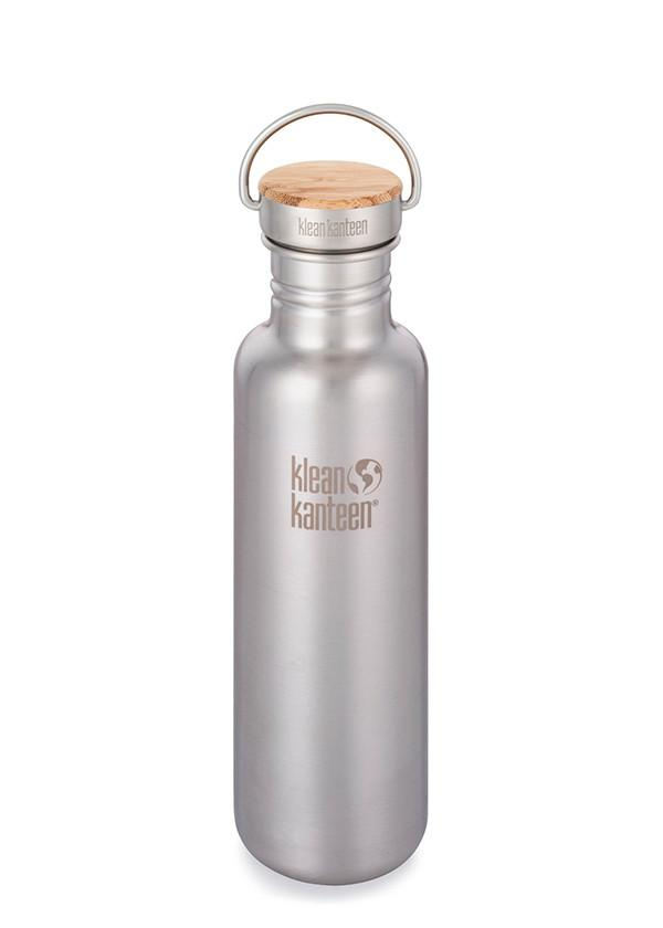Klean Kanteen Stainless Unibody Bamboo Cap Water Bottle - 18oz/27oz