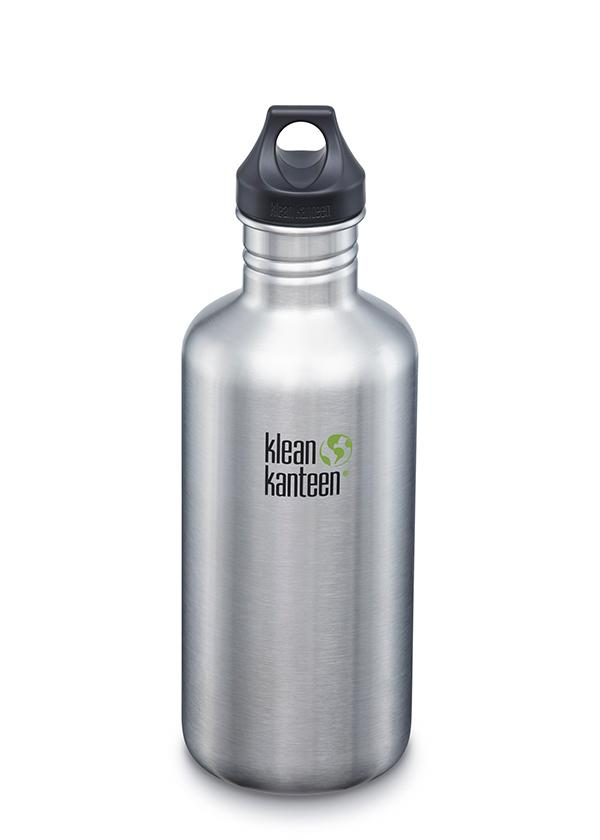 Klean Kanteen Classic w/ Loop Cap Water Bottle- 18oz/27oz/40oz/64oz