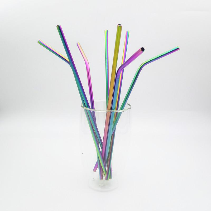 Rainbow Stainless Steel Drinking Straw