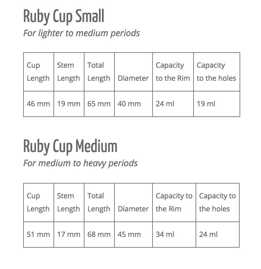 Ruby Menstrual Cup