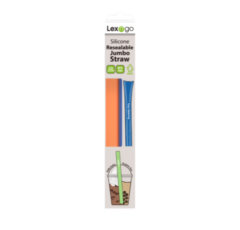Resealable Jumbo Straw (Pack of 2pcs)