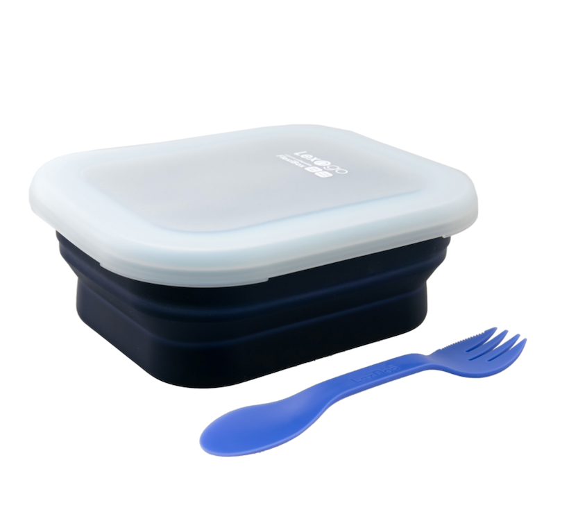 Silicone Collapsible FlexiBox - Medium / 矽膠蓋可摺疊食物盒 - 中