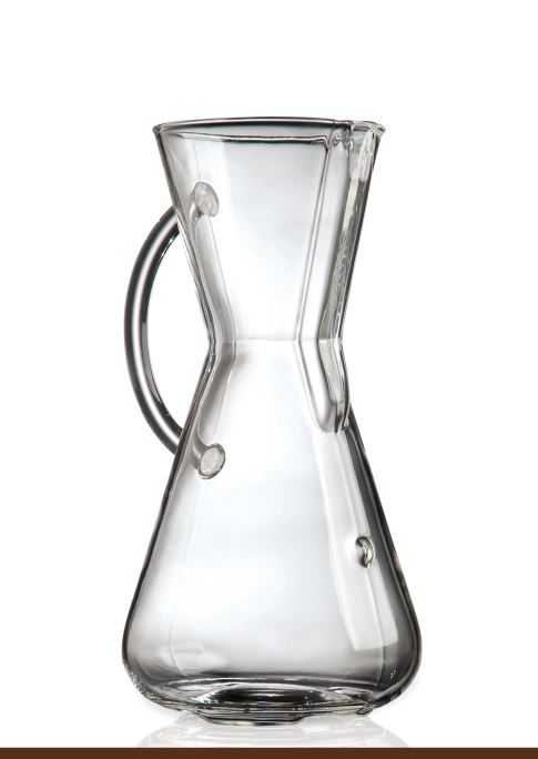 Glass Handle Chemex® Filter-Drip Coffeemaker (3 cup/ 6 cup)