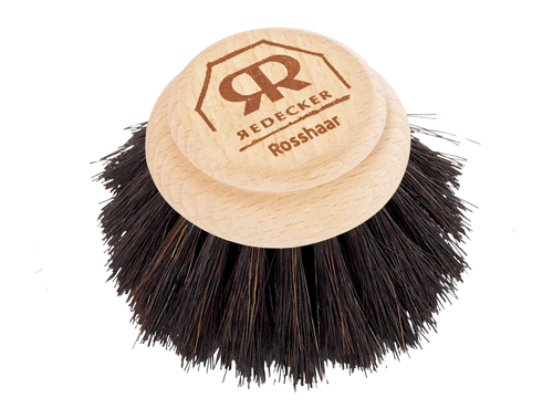 Round Dish Brush with Removable Head (Horsehair)