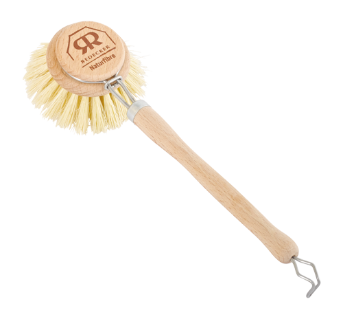 Round Dish Brush with Removable Head (Vegan Friendly)