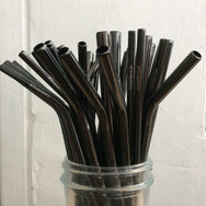 Black Stainless Steel Drinking Straw