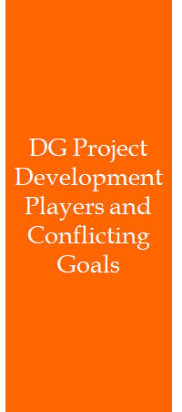 DG Project Development Players and Conflicting Goals