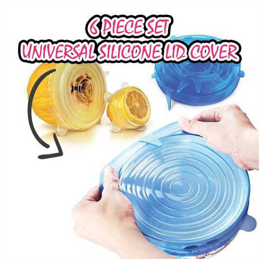 6 Piece Set Universal Silicone Lid Cover - Kitchen Tools - Iroiro Online